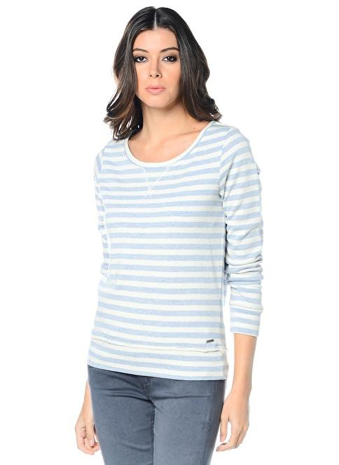 Vero Moda Uzun Kollu Sweatshirt Beyaz